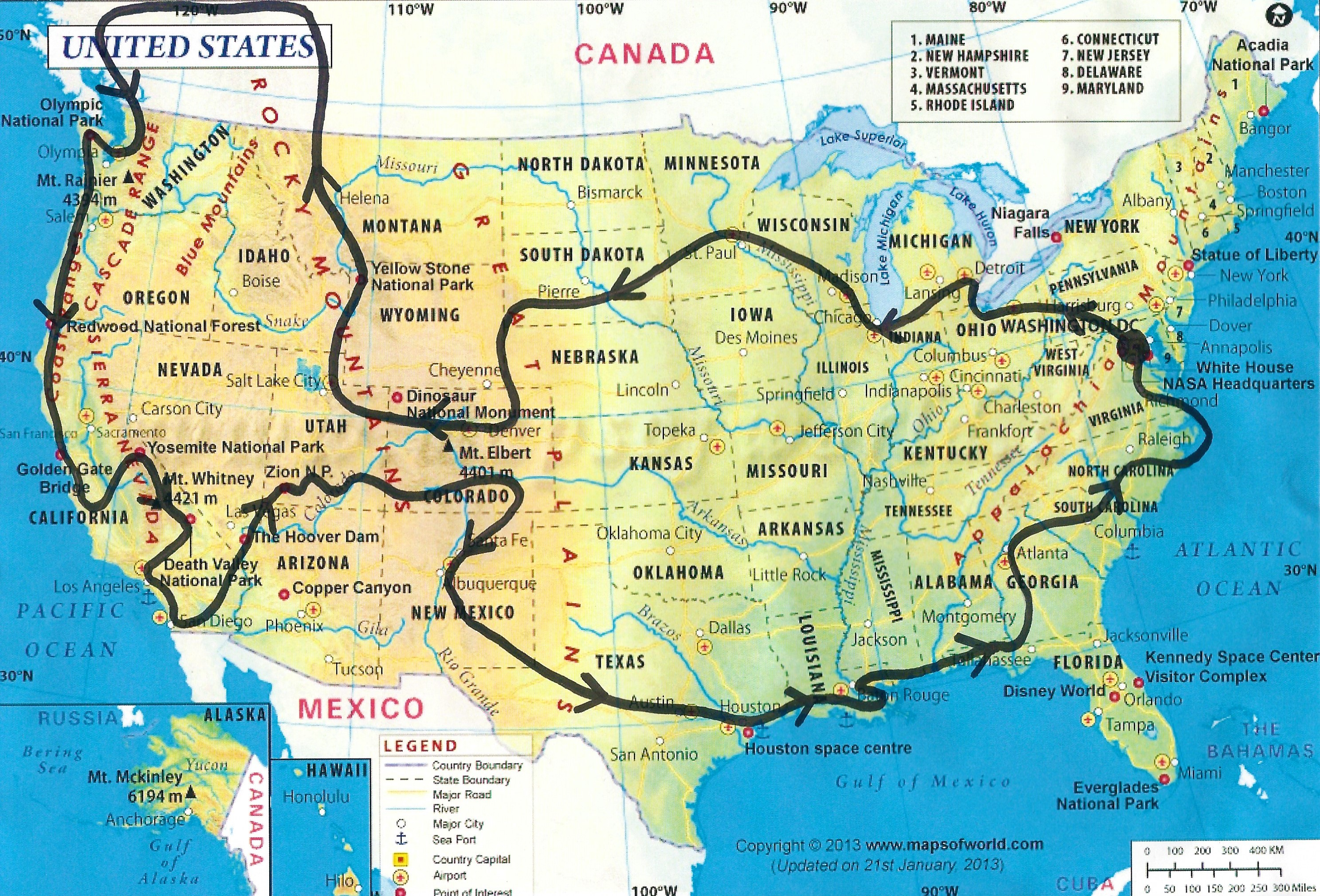 Longest Rivers In USA Test Your Geography Knowledge USA Rivers - Us 90 road mississippi map